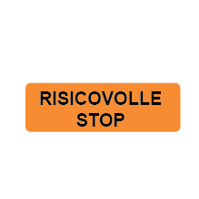 Risicovolle stop - 30x10mm