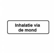 Inhalatie via de mond